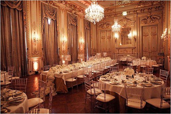 The historic Shangri-La Hotel Paris, dressed for wedding breakfast