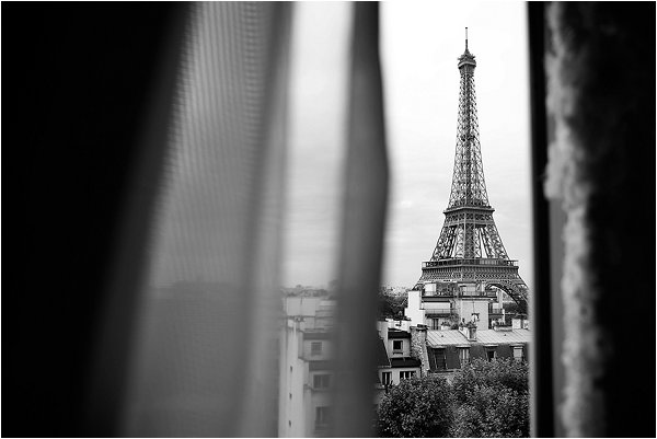 View of the Eiffel Tower from Shangri-La Hotel