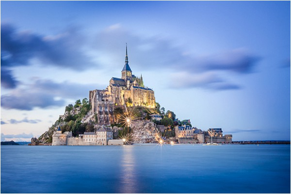 Visiting Mont St Michel at night