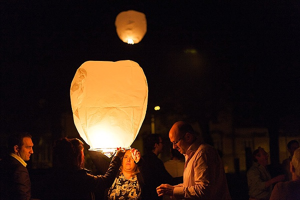 Wedding Chinese lantern finale