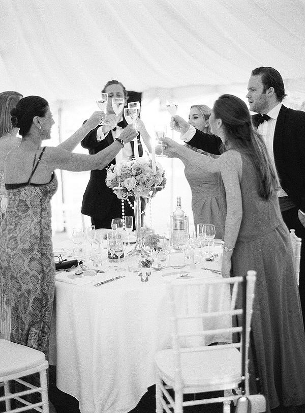 Wedding day reception