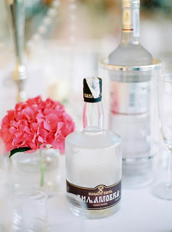 Wedding table drinks
