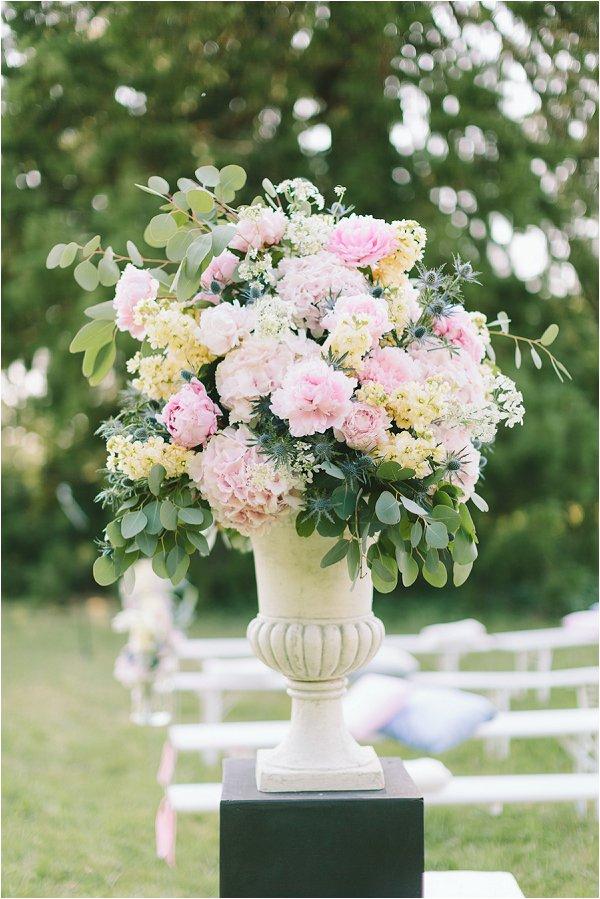 beautiful pastel flower display