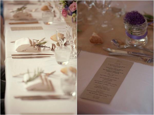 burlap and lace wedding decor