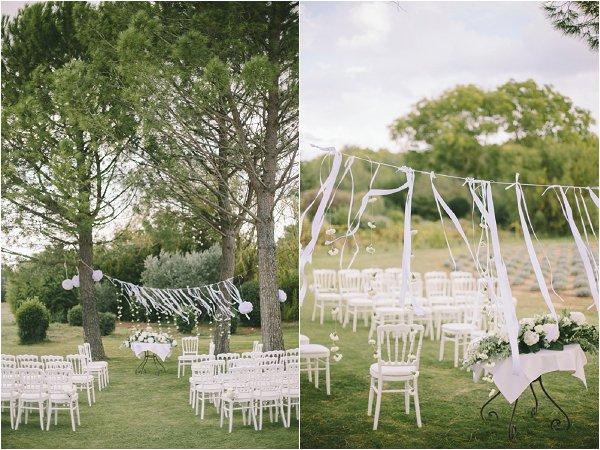 decorating outdoor wedding venue