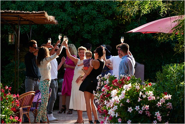 family wedding reception France