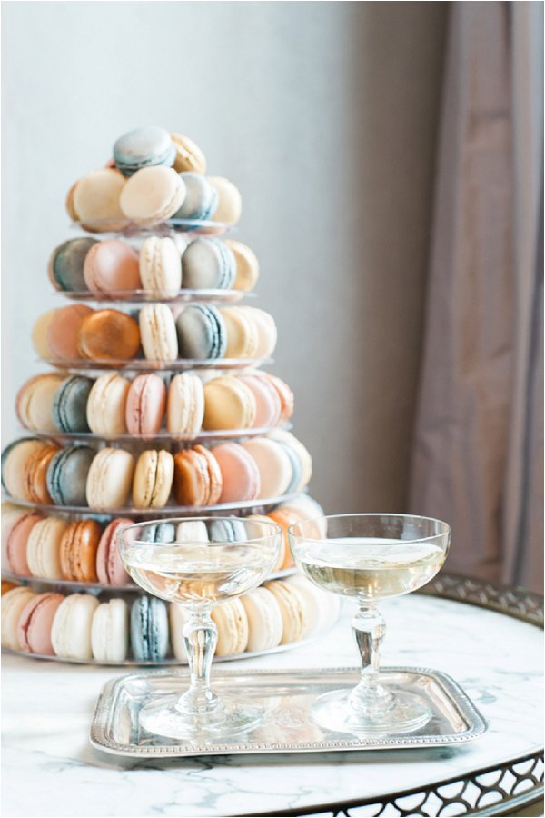 pastel colored macaron tower