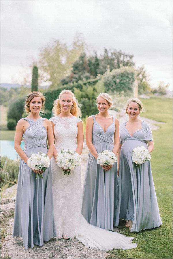 pretty light blue bridesmaid dresses