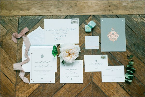 pretty wedding calligraphy
