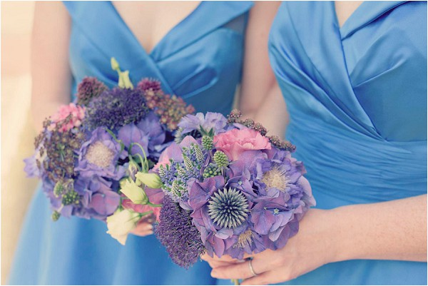 purple bridesmaid bouquets