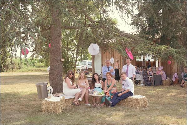 relaxed garden wedding reception