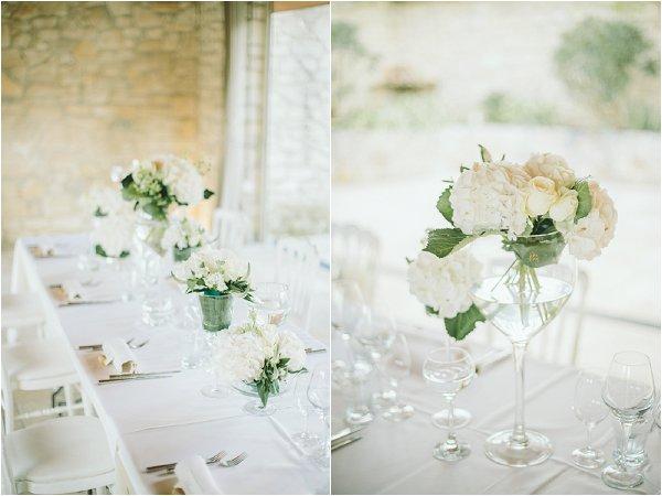 romantic white wedding flowers