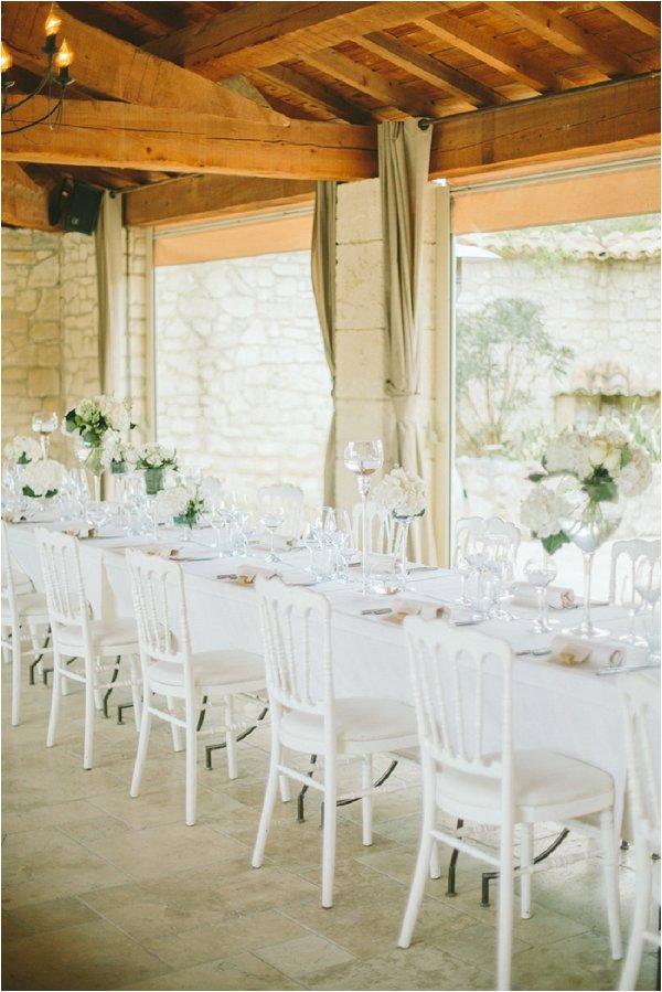 simpe white wedding decor