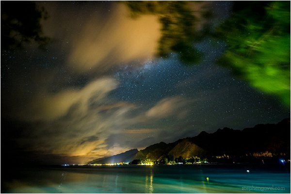 Tahiti at night
