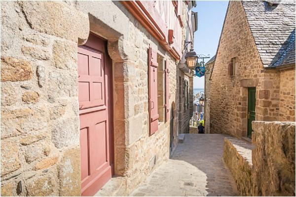 town of Mont St Michel
