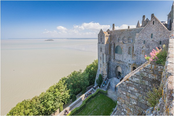 view from Mont Saint Michel