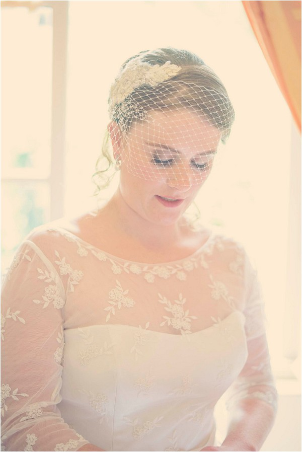 vintage style bride in France
