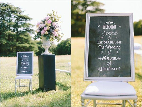 wedding ceremony sign