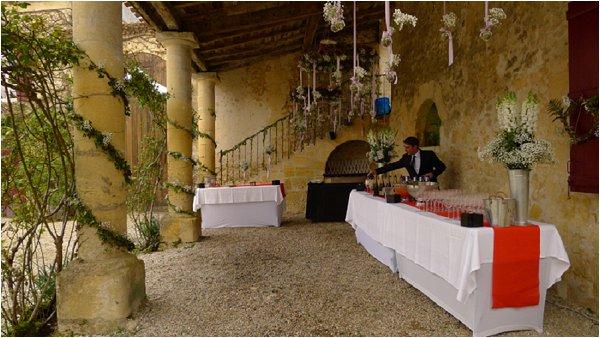 wedding reception near Bordeaux