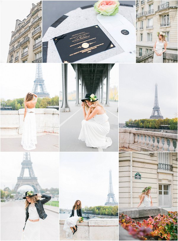 Boho rock inspired bridal photography Paris