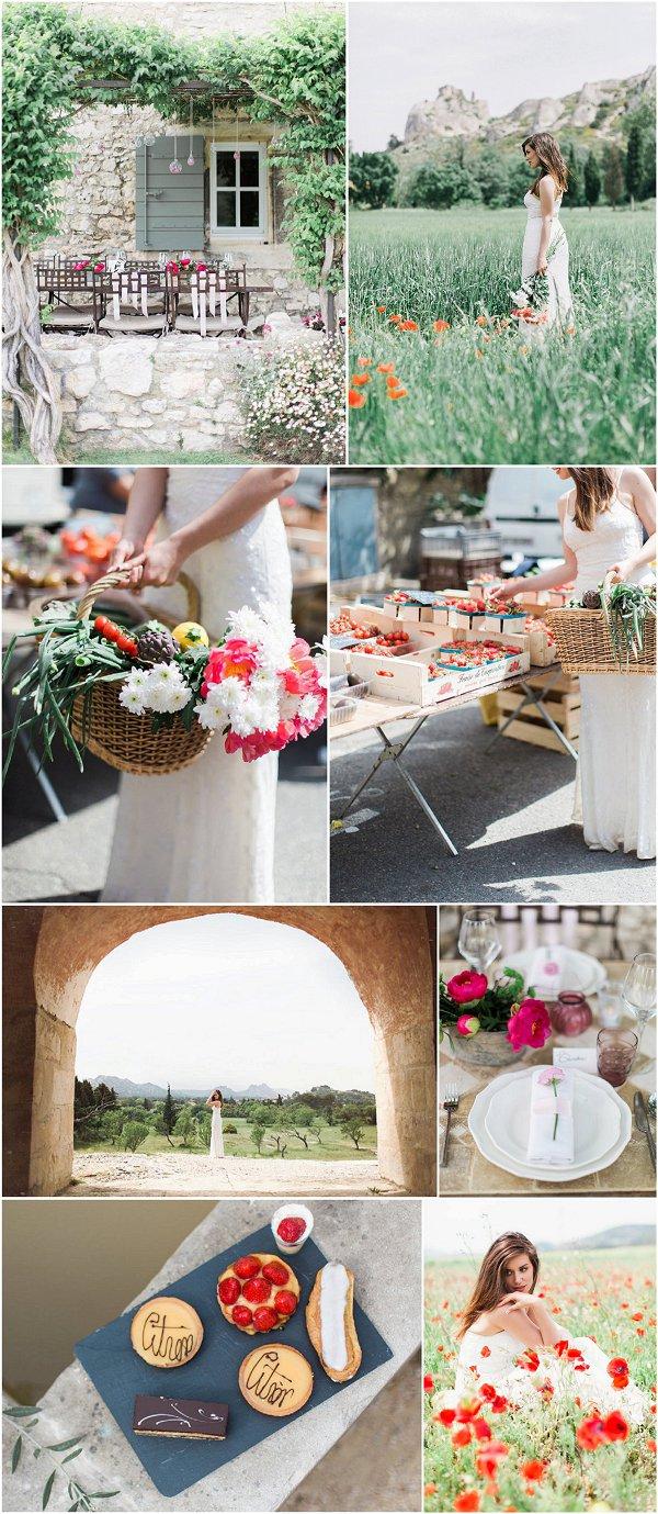 Charming Provence Wedding Inspiration Snapshot