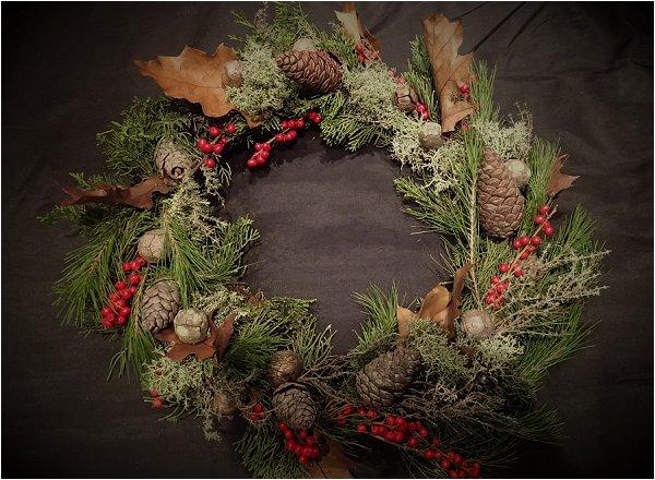 DIY festive wreath tutorial
