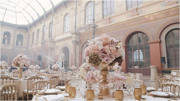 Ecole Des Beaux Arts In Paris Dressed For A Lavish Wedding Reception