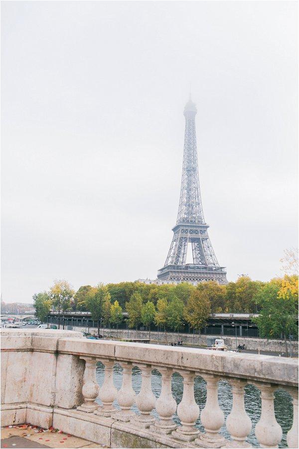 Eiffel tower in mist
