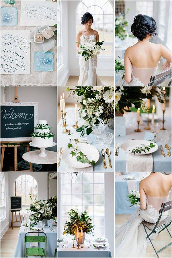 Elegant Winter Wedding Inspiration Board