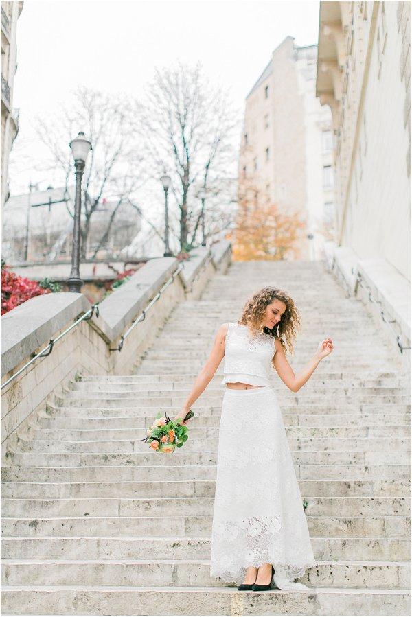 boho bridal inspiration in Paris