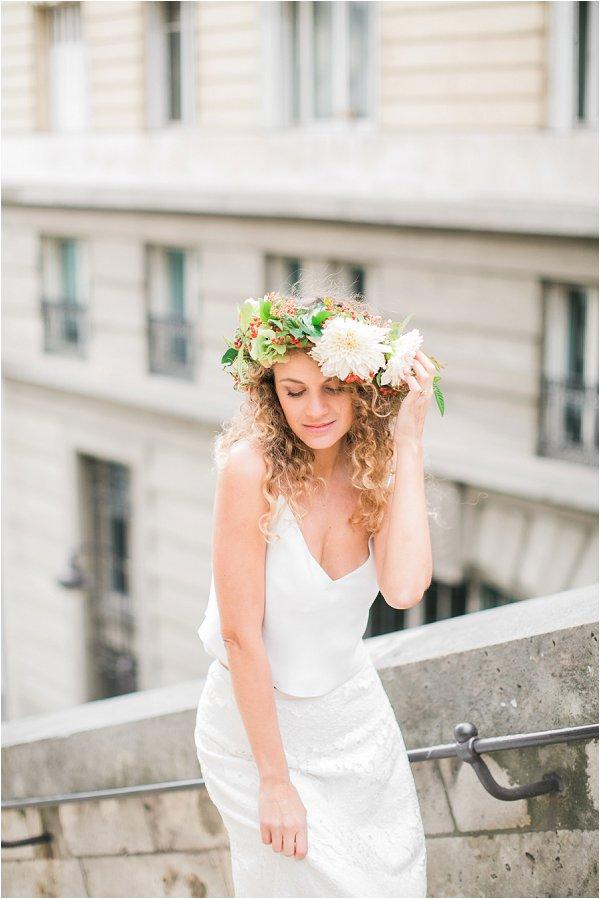 boho wedding in Paris
