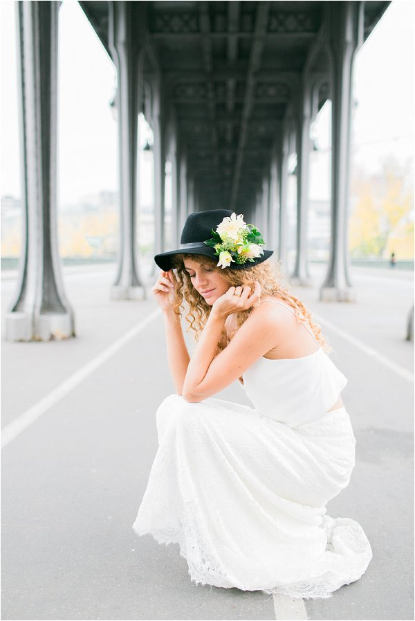 bridal hats with flowers