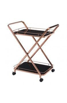 Vesuvius Rose Gold Bar Cart