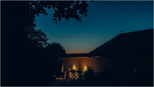 evening at wedding in South of France