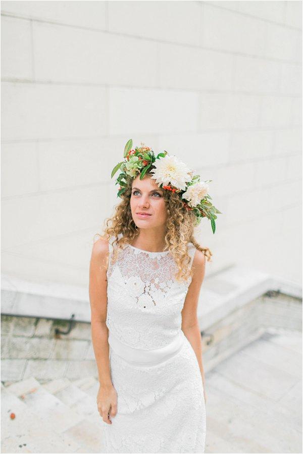 oversize floral bridal crown