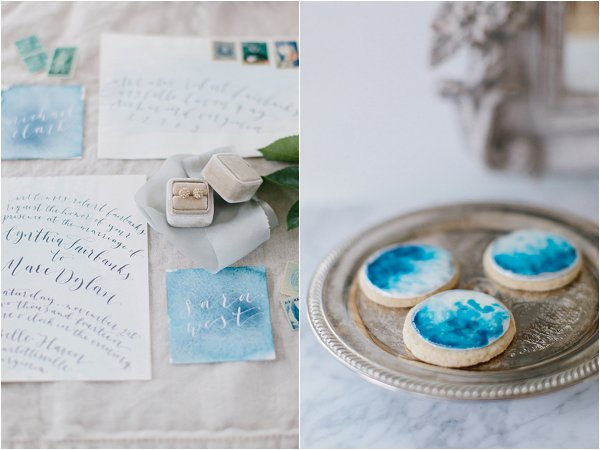 pale blue wedding decor