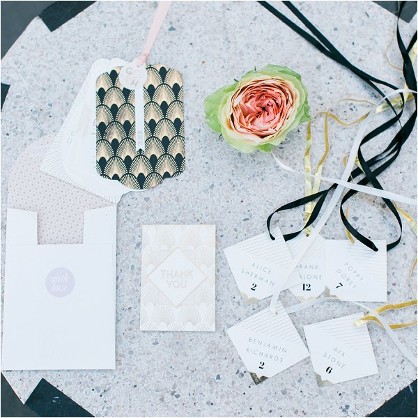 rock inspired wedding stationery