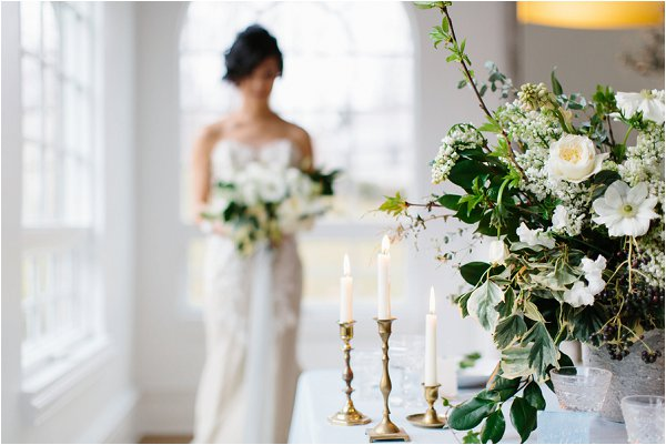 white and green wedding ideas