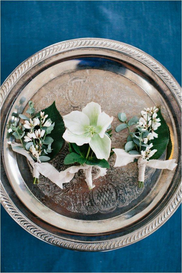 winter wedding buttonholes