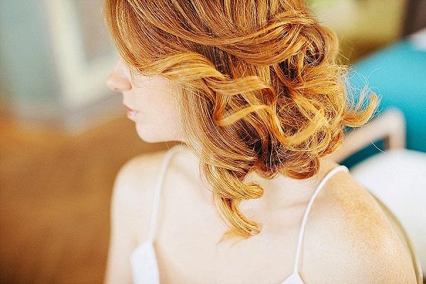Auburn hair bride