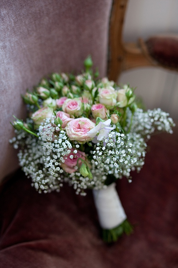 Baby pink bridal bouquet ideas