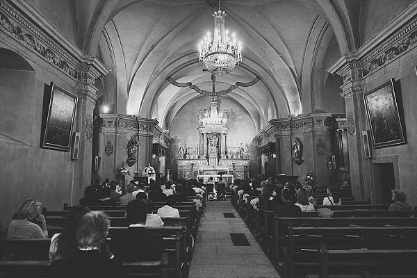Beautiful church wedding in Chamonix
