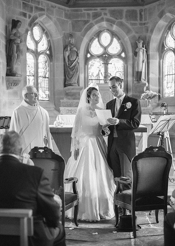Brittany church wedding