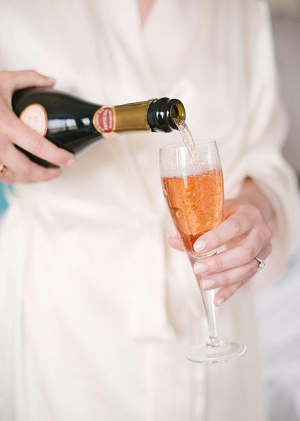 Champagne wedding morning breakfast