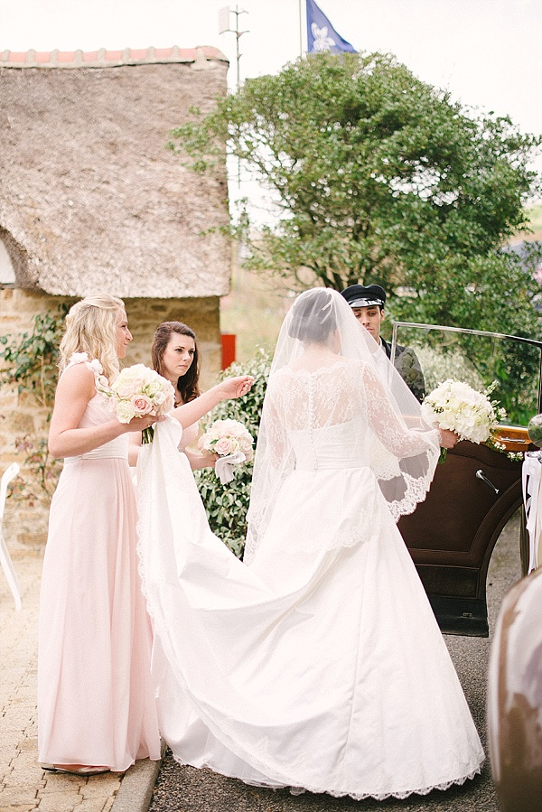 Classic lace wedding dress