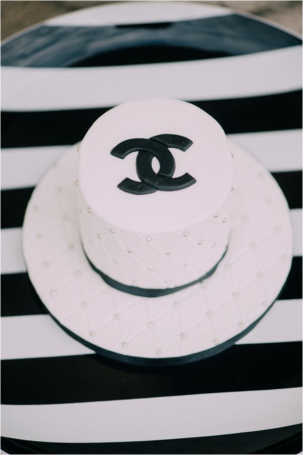 Coco Chanel Inspired mini cake