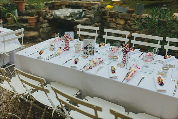 DIY wedding table design