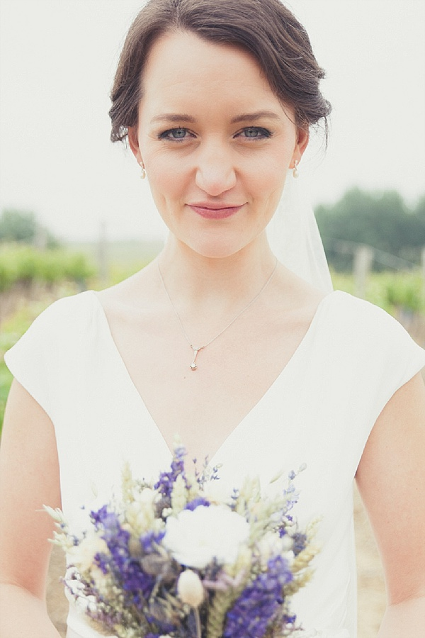Dry wildflower bridal bouquet