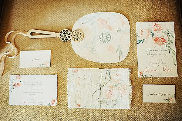 Elegant wedding stationary set