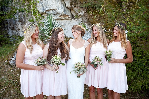 Flower crowns for bridesmaids
